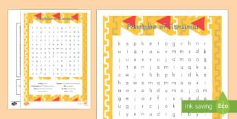 Principles of Kwanzaa Word Search - Kwanzaa, Principles of Kwanzaa