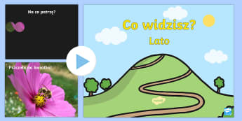 Prezentacja PowerPoint Co widzisz?  - Summer Themed What Can You See PowerPoint - seasons, weather, waether, WHEATHER, seaons, wetaher, we