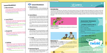 PlanIt - Art KS1 - LS Lowry Planning Overview CfE