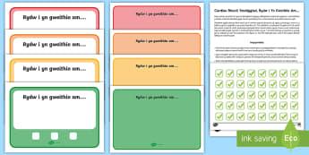 Cardiau Rheoli Ymddygiad, Rydw i Yn Gweithio Am... - Siart Rheoli Ymddygiad, gweithio am, working for, ticiau, ticks, Behaviour Management Cards.,Welsh