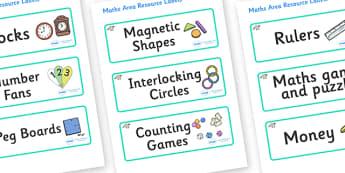 Raccoon Themed Editable Maths Area Resource Labels - Themed maths resource labels, maths area resources, Label template, Resource Label, Name Labels, Editable Labels, Drawer Labels, KS1 Labels, Foundation Labels, Foundation Stage Labels, Teaching Lab
