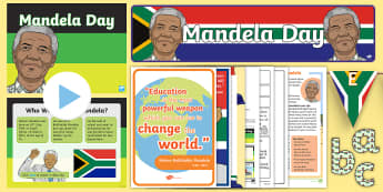 Mandela Day KS1 Resource Pack - Nelson Mandela, apartheid, prison, South Africa, human Rights