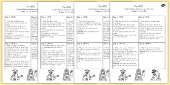Guided Reading Pack to Support Teaching on The BFG - australia, bfg, guided, reading, pack