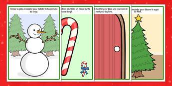 Christmas Playdough Mats French - french, christmas, playdough mats, playdough, mats