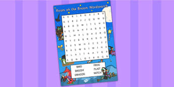 Word Search to Support Teaching on Room on the Broom - room on the broom, wordsearch