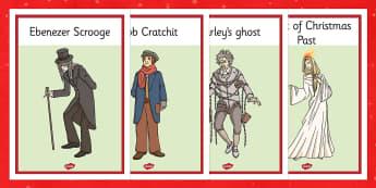 A Christmas Carol Display Posters - displays, poster, festivities, scrooge, Charles Dickens