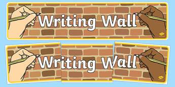 Writing Wall Display Banner - writing, write, writing wall