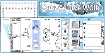 KS1 Winter Walk Resource Pack - winter, season, walk, trip, visit, nature
