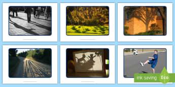 Shadows Display Photos - EYFS, Early Years, KS1, Light and Dark, shadows, light, sun, sunshine, Science, Understanding the Wo