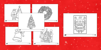 More Christmas Themed Mindfulness Coloring Activity - coloring, mindfulness, Christmas, activity, art, creativity