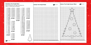Christmas Tree Graph Worksheet - christmas, graph, numeracy, xmas