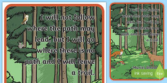 Woodland Creature Inspirational Quote by Strode Display Poster