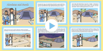 Abraham and Sarah Bible Story PowerPoint - KS1, Year 1, Year 2, EYFS, Reception, Abraham, Sarah, Bible, RE, Religion, Religious Education, Bibl