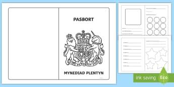Pasbort Mynediad Plentyn Taflen Weithgaredd - trosglwyddo, transition, pasbort, passport, newid dosbarth, change class,Welsh