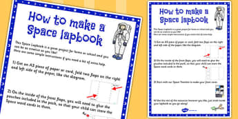 Space Lapbook Instruction Sheet - space, lapbooks, instructions