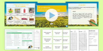 Environment Lesson 2: Local Environmental Problems Lesson Pack Spanish - environment, local, environmental, problems, global, issues, local, concerns, negatives, imperfect,