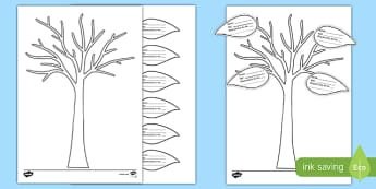 All About My Family Tree and Leaf Activity Sheet, worksheet