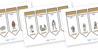 Editable Bookmarks (Vikings) - Vikings, Bookmark, bookmark template, gift,  present, book, reward, achievement, longship, Viking, Viking Age, England, Norway