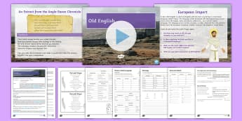 Development of English 6: Old English Lesson Pack - Old English, Anglo Saxon, Anglo-Saxon, Beowulf, Beowolf, Chronicle, Frisian, eth, thorn, wynn, yogh,