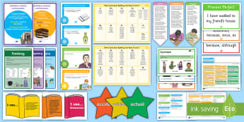Y3/4 English Working Wall Display Pack - Literacy, Y3, Y4, KS2, Writing, complete display, full display, learning prompts