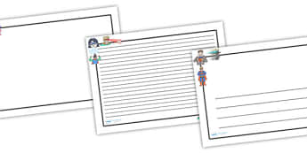 Superheroes Corners Page Borders - page border, border, frame, writing frame, writing template, superheroes, superhero, superheroes borders, writing aid, writing, A4 page, page edge, writing activities, lined page, lined pages