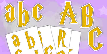 Magic Themed Display Letters and Numbers - magic, display, letters