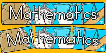 Mathematics Display Banner - math, math display, header, banner