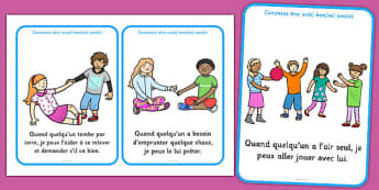 How To Be a Good Friend Cards French - french, how to be, good friend, cards, good, friends