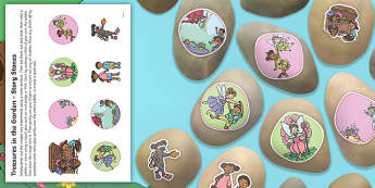Treasures in the Garden Story Stones Image Cut-Outs - EYFS, Early Years Planning, Adult Led, topic plan, Twinkl Fiction, Twinkl Originals, Story, Treasure