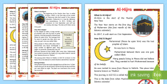 KS1 Al-Hijra Differentiated Fact File - Religion, Mohammad, Islam, Muslim, New Year