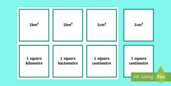 Area Matching Cards - area, measures, counting, counting choir, counting cards, coral counting,Irish