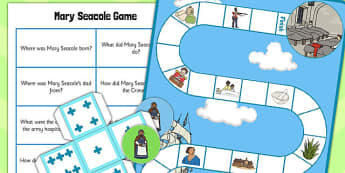 Mary Seacole Board Game - board, game, mary seacole, seacole