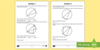 Year 6 Circles Maths Investigation Activity Sheet - right angle, triangle, challenge, Thales Theorem, hypotenuse