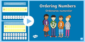 Ordering Numbers 0 10 and 0 20 PowerPoint English/Romanian - Ordering Numbers 0 10 and 0 20 PowerPoint - order, number, numbes, nubers, seriation, pp, ppt, eal