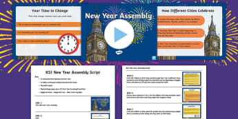 KS1 New Year Assembly Pack - KS1, New Year, Assembly pack, senior management, assembly, resolutions, 2016, 2017