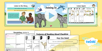 Animals: Dear Zoo: Storytelling 1 Y1 Lesson Pack To Support Teaching on 'Dear Zoo' - Stories with repeating parts, mini topic, safari, whole class guided reading, minibeasts