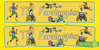 The Paralympics Display Banner - nz, new zealand, paralympics, rio 2016, rio olympics, 2016 olympics, display banner, display, banner