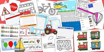 KS1 Transport Activity Pack - transport games, activities, games