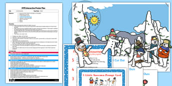 5 Little Snowmen EYFS Interactive Poster Plan and Resource Pack - 5 little snowmen, eyfs, poster, plan