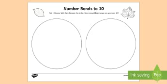 Number Bonds Outdoor Activity Sheet - CfE Outdoor Learning, nature, forest, woodland, playground, numeracy, worksheet, number bonds, ten f