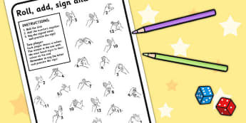 British Sign Language Left Handed Alphabet Colour Roll Worksheet