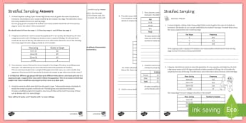Stratified Sampling Activity Sheet - statistics, sampling, stratified sampling, population, worksheet, skateboard, dog, cars.