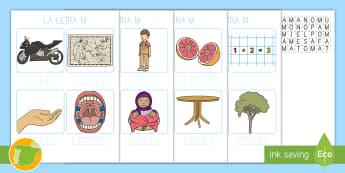 Encontrar las letras: La letra M Game - juego lectoescritura, juego lecto, lecto, leer, lectura, sonidos, lecto-escritura, fonemas, sonidos,