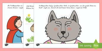 Rotkäppchen Arbeitsblatt Erstes Schreiben: Linien nachspuren - Rotkäppchen, Märchen, Linien nachspuren, Schreibmotorik, Feinmotorik, German