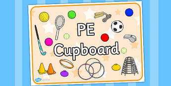 PE Cupboard Sign - cupboard, pe, sign, physical, display sign