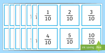 Tenths and Hundredths Memory Matching Game - tenths, hundredths, fractions, equivalent fractions, decimals