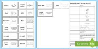 Edexcel Electricity and Circuits Loop Cards - thermistor, circuit breakers, earth wire, fuses, series circuit