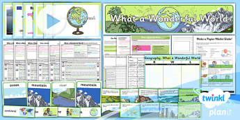 PlanIt - Geography KS1 - What a Wonderful World Unit Pack - planit
