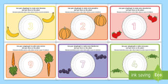 Healthy Food Counting Playdough Mats English/Romanian - fine motor skills, eating, health, motorskills, fine motorskills, finemotor, countng, couting, playd