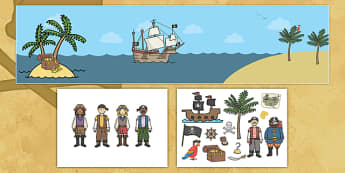 Pirate Small World Pack - pirate, small world, role play, pack